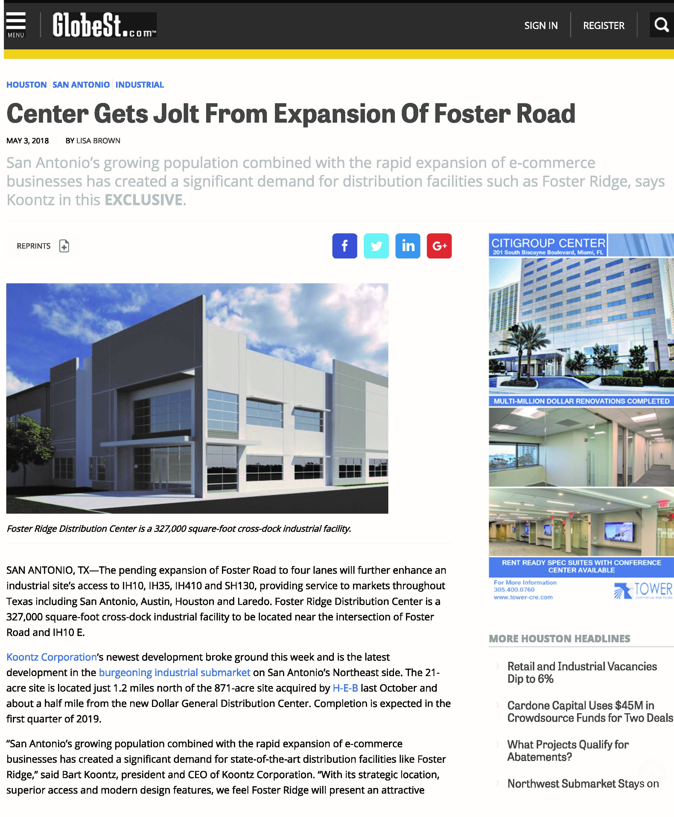 center-gets-jolt-from-expansion-of-foster-road-_-globest_page_1